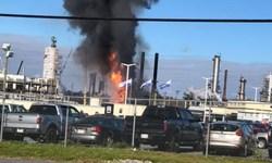 انفجار و حریق در پالایشگاه نفت کانادا